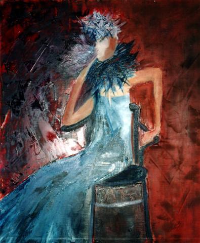 cabaret peinture huile et couteau
