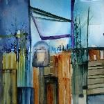 aquarelle abstraite s?e chantier